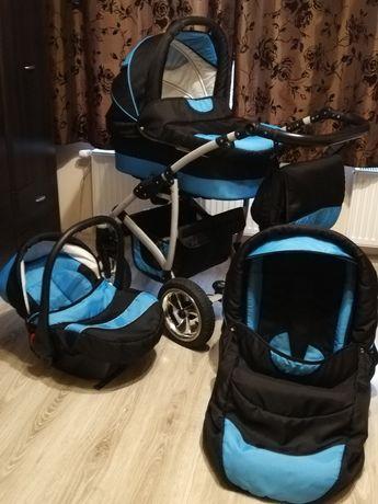 Wózek 3w1 raf pol largo czarno-niebieski