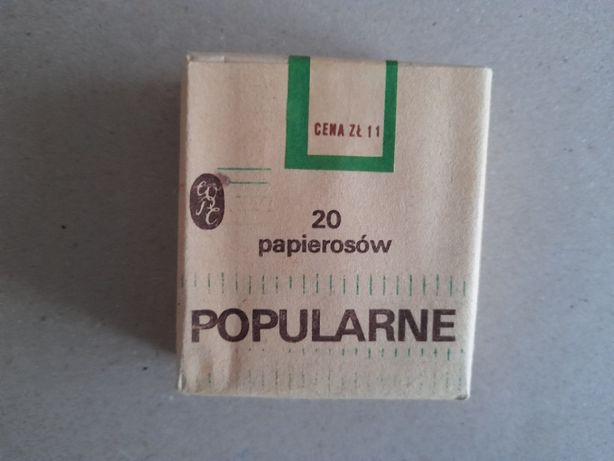 Kolekcjonerskie kultowe opakowanie po papierosach Popularne PRL