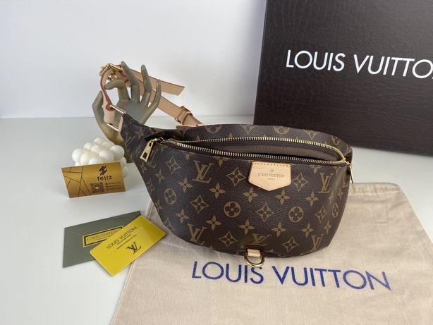 Nerka na ramię na pas Louis Vuitton BUMBAG monogram skóra naturalna
