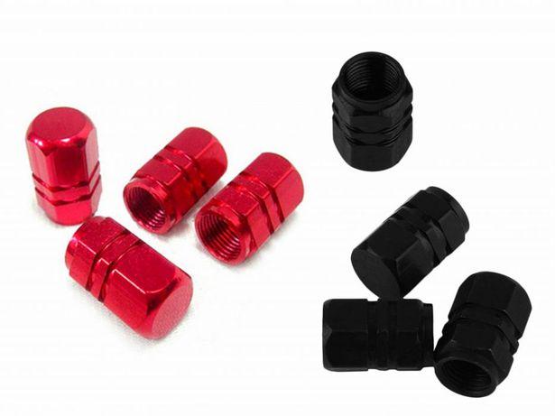 Колпачки для колес на авто/мото/вело (8 шт. красный и черный)