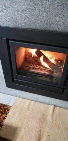 Recuperador calor lenha ventilado