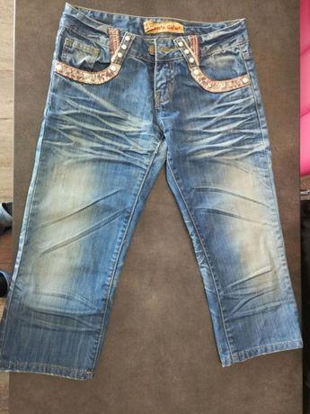 Spodenki rybaczki jeansowe