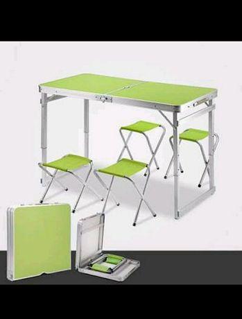 АКЦИЯ! Портативный стол для пикника в чемодане