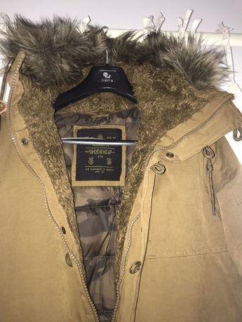 Casaco grosso de inverno para temperaturas negativas camel c/ NOVO