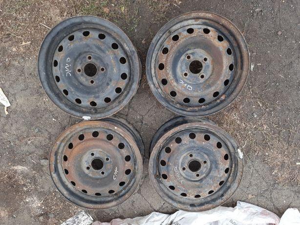 диски Honda Сивик civic 4*100 р15 комплект легкосплавные стальные