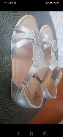 Sandałki H&M 33 zlote