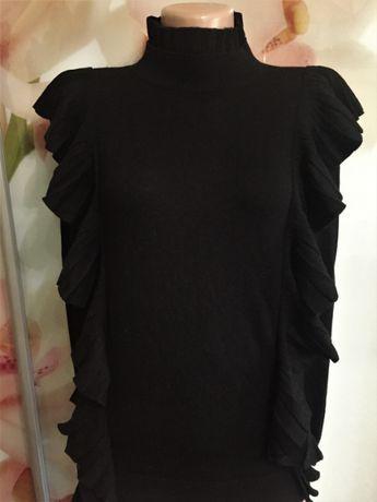 Красивый черный женский свитер водолазка бренд Love Republik