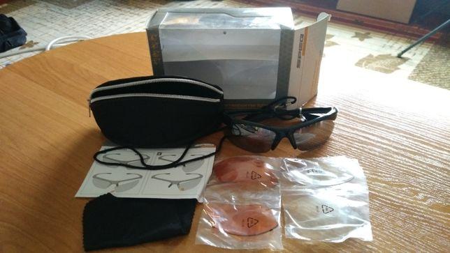 Okulary sportowe z wymiennymi szkłami