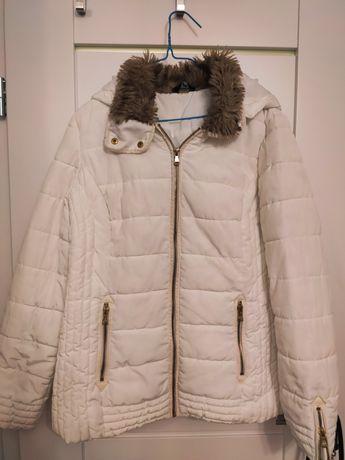Biała kurtka zimowa, M