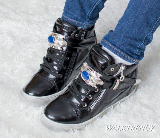 Modne sportowe botki ukryty koturn sneakers rozmiary 37-40