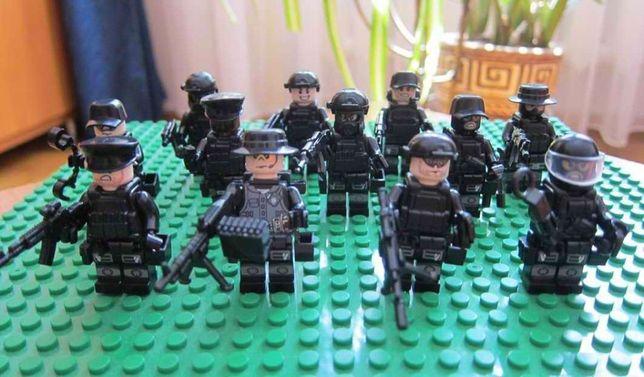 Мини-фигурки 12шт. Lego SWAT человечки солдатики полиция спецназ армия