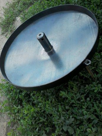 Cупер сковородка з димком 40см з кришкою.сковорода из диска борон.манг