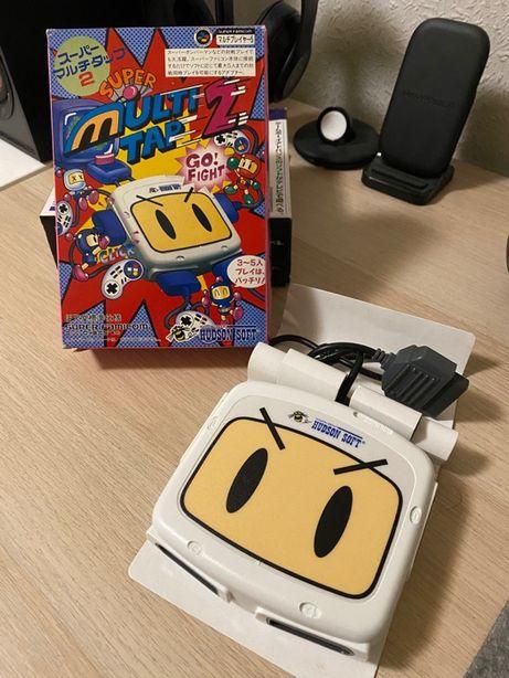 Super Multi Tap 2 Hudson/Bomberman (SNES) - Como novo
