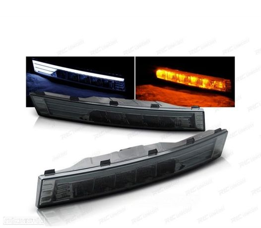 PISCAS FRONTAIS LED TUBE LIGHT VW PASSAT B6 3C 05-10 CARDNA FUMADOS / ESCURECIDOS