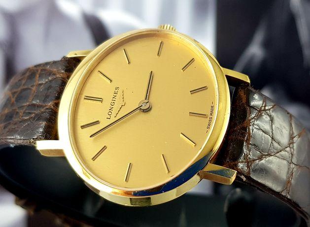 Złoty zegarek Longines 18k Unikat NOS lata 60te Pudełko Instrukcja