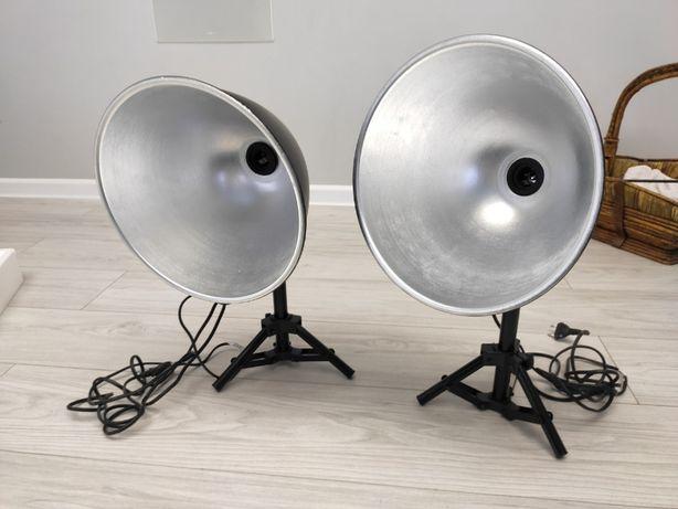 Lampy do fotografii bezcieniowej, 2x statyw klosz oprawa E27 studyjna