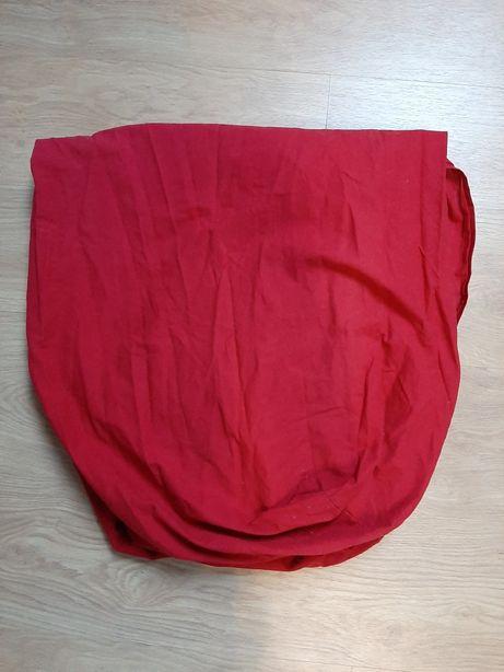 Nowe krwistoczerwone prześcieradło z gumką ikea 90x200