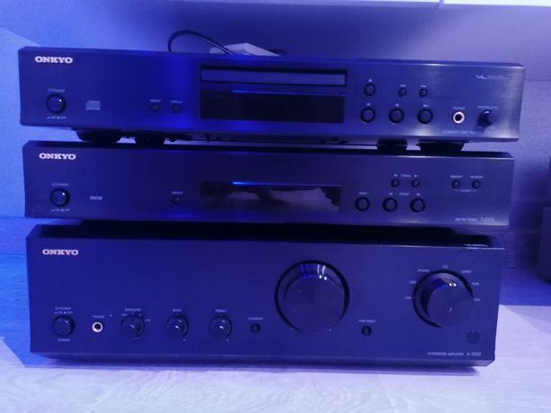 Onkyo HiFi mocny zestaw stereo A9555,T4355,Cd7355 Black