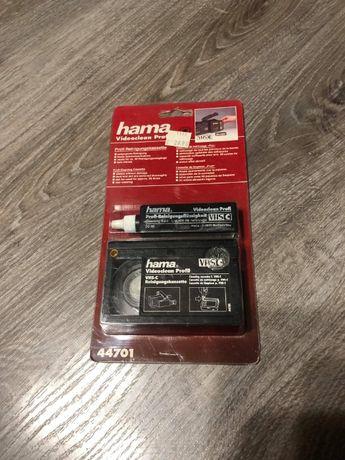 Kaseta czyszcząca głowicę kamery VHS HAMA Videoclean Profi. NOWA.