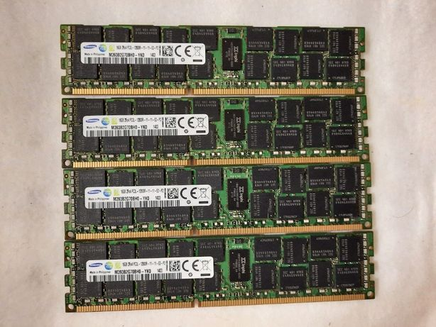 64GB 4x16GB Samsung 2Rx4 PC3L-12800R M393B2G70BH0-YK0 ECC REG RAM серв