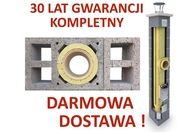 Komin ceramiczny system kominowy KW2+W2 fi 200 5m KOMPLETNY OCIEPLONY