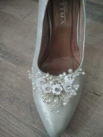 Klipsy do butów ozdoby do butów ślub