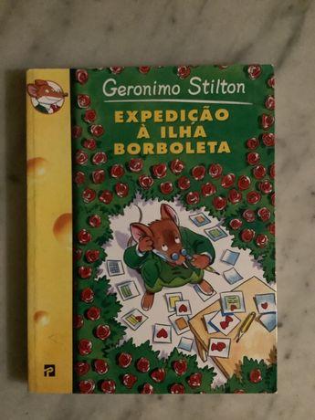 Livro Geronimo Stilton - Expedição à ilha Borboleta