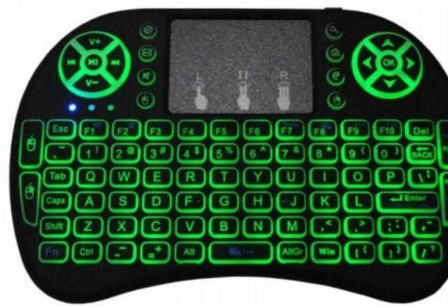Bezprzewodowa podswietlana klawiatura z akumulatorem.