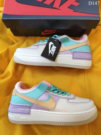 Женские кроссовки Nike Air Force 1 Shadow разноцветные 147