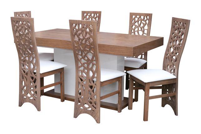 Zestaw mebli do jadalni/salonu - Stół 10 + 6 Krzeseł K68