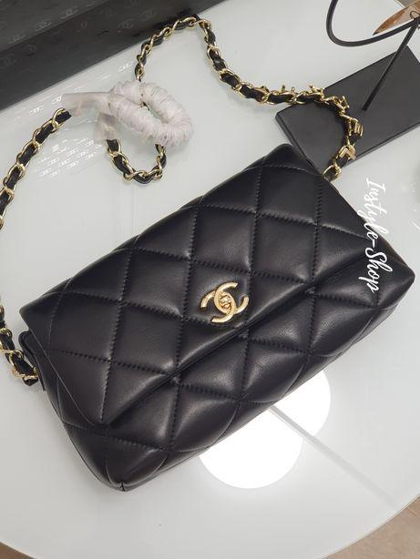 Кожаная женская сумка клатч Chanel Шанель. Натуральная кожа, люкс