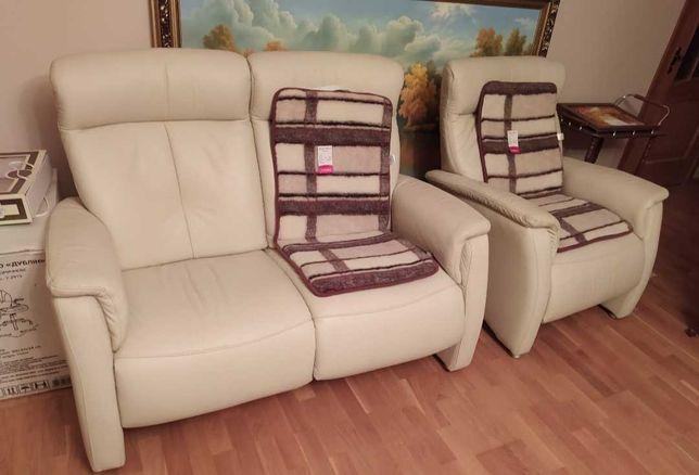 Продаю нову Німецьку ортопедичну шкіряну частину. Диван та 2 крісла.