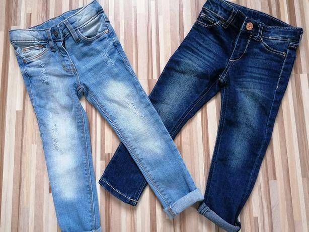 Spodnie jeansy Coccodrillo r. 98, H&M r. 92