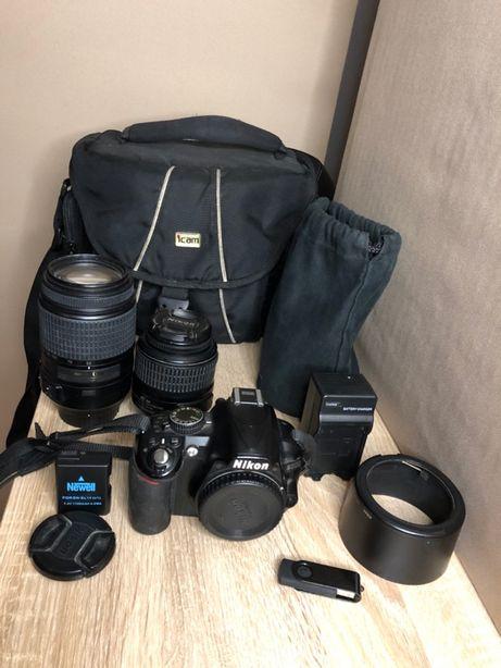 Nikon d3100 ZESTAW - Obiektywy 18-55 / 55-300 mm + GRATISY