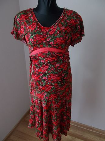 Sukienka w kwiatki ciążowa