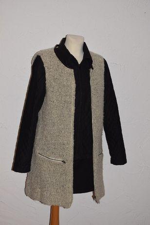 SECOND FEMALE bezrękawnik, kamizelka wełn, alpaka+ pikowana kurtka M
