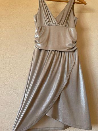 Vestido de verão metalizado