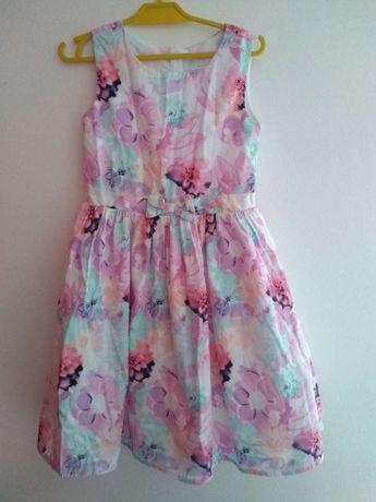 Śliczna kolorowa sukienka CoolClub roz. 122