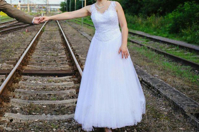 Suknia ślubna 38 model 2017 shaune koronka