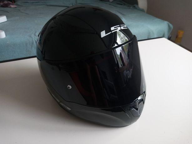 2x Kask motocyklowy LS2 Rapid ciemna/srebna szyba roz L