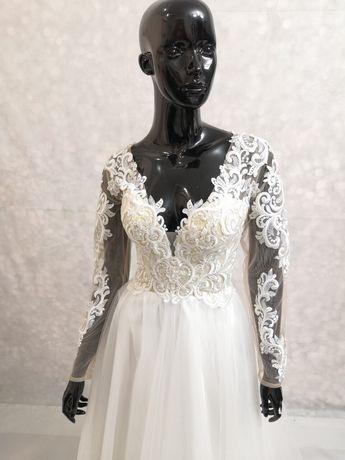 Счастливое свадебное платье скидка))К платью фата...