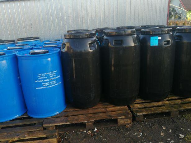 Beczki 220-240 litrów po spożywce na deszczówkę drenaż zacier dymion