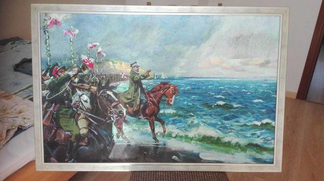 """Obraz olejno-druk na płótnie """"Zaślubiny z morzem"""" 102x68 z ramą"""