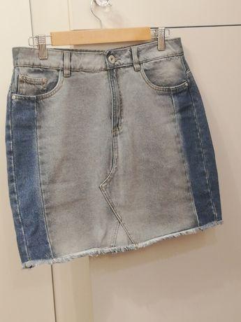 Reserved spódnica jeansowa mini ombre tuba rozm. 40 jak nowa
