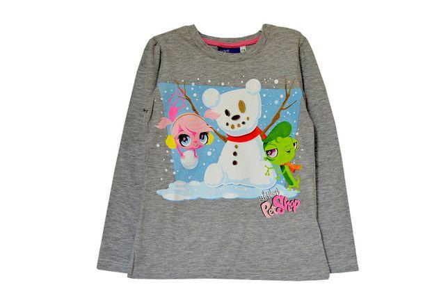 T-shirt Pet Shop z długi rękaw szary rozm. 116,122, lub turkus 104,122