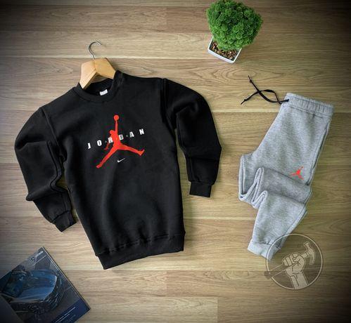 Утепленные мужские спортивные костюмы Jordan. Свитшот + штаны. НАЧЁС!