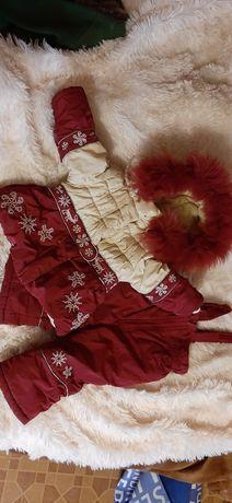 Зимний костюм Кико на 74 рост куртка комбинезон на годик