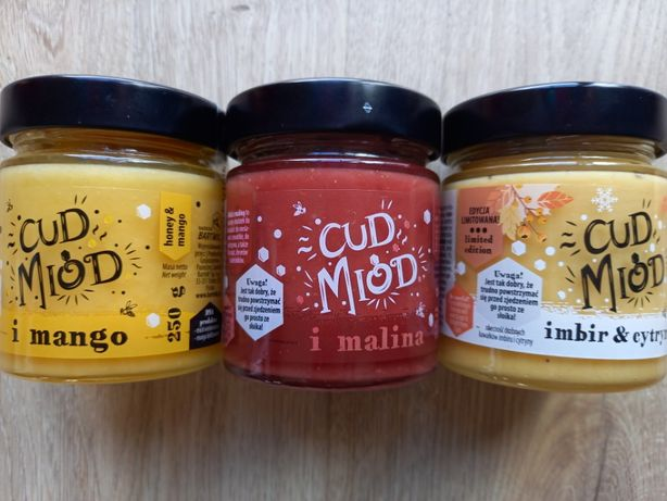 Miód smakowy Mango / Malina / Imbir & Cytryna 250g
