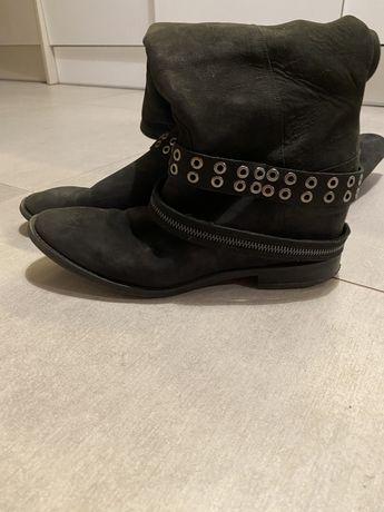 Skórzane buty Badura