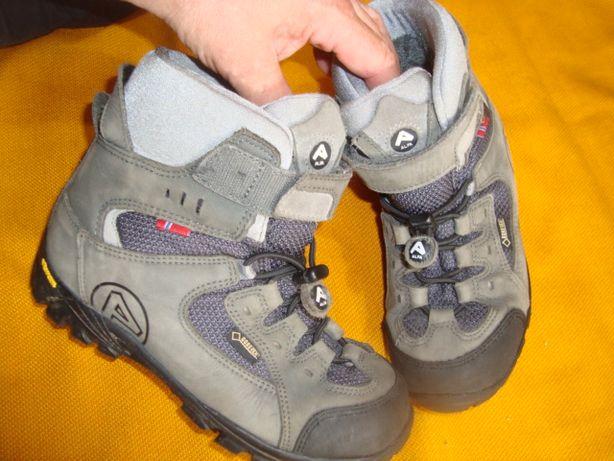 buty górskie Trekkingowe Alfa -Gore Tex roz 34- 22 cm- Super Norweskie